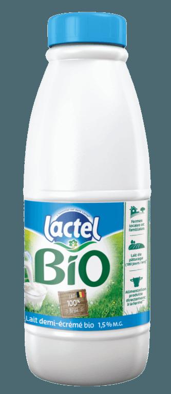 Lactel Bio demi-écrémé