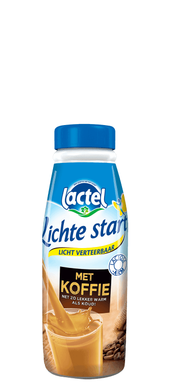 Lactel Lichte Start met koffie