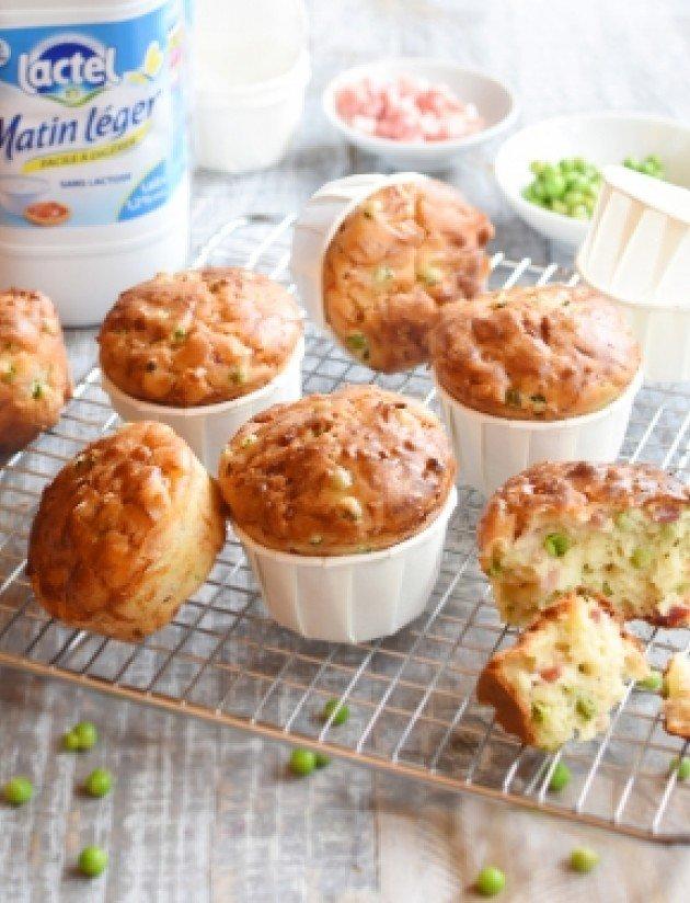 Muffins met spekjes lactose-arm
